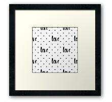 Monochrome love pattern Framed Print