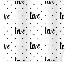 Monochrome love pattern Poster