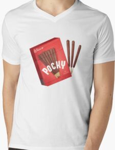 Japanese Pocky - chocolate  Mens V-Neck T-Shirt