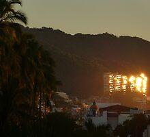 reflections of a sunset - reflejos de una puesta del sol by Bernhard Matejka