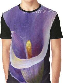 Happy Mother's Day Lavender Calla Lily Graphic T-Shirt