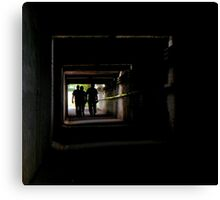 Zombie infested underpass Canvas Print