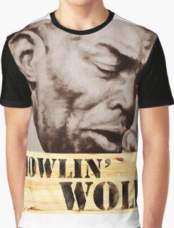 Howlin' Wolf (ink portrait ) Graphic T-Shirt