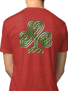 Shamrock, Knot, St Patricks Day, Celtic, Celt, Irish, Ireland, Eire, Luck, Lucky Tri-blend T-Shirt