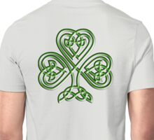 Shamrock, Knot, St Patricks Day, Celtic, Celt, Irish, Ireland, Eire, Luck, Lucky Unisex T-Shirt