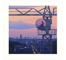Tower Crane Art Print