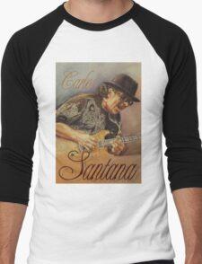 Carlos Santana (pastel drawing) Men's Baseball ¾ T-Shirt