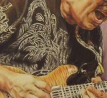 Carlos Santana (pastel drawing) Sticker