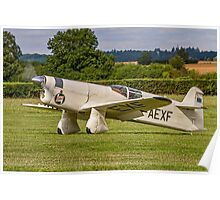 Percival Type E2H Mew Gull G-AEXF taxying in Poster