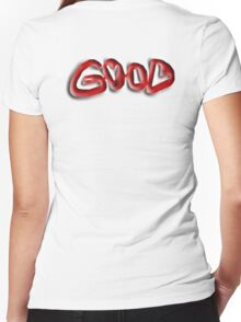 Good, Evil, illusion,  Right, Wrong, Optical illusion, Visual illusion, Women's Fitted V-Neck T-Shirt