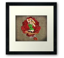 Ivy and Roses Pinup Framed Print