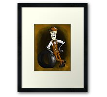 Frank (Dim Bulbs) Framed Print