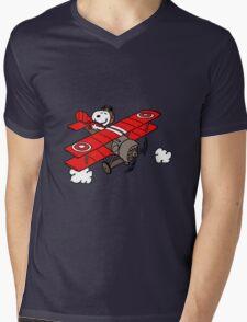 flying snoopy Mens V-Neck T-Shirt