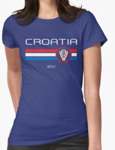 Euro 2016 Football - Croatia (Away Blue) Womens Fitted T-Shirt