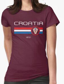 Euro 2016 Football - Croatia (Away Blue) Womens Fitted T-Shirt