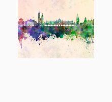 Krakow skyline in watercolor background T-Shirt