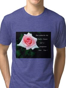 A card for Christmas Tri-blend T-Shirt