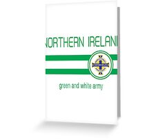 Euro 2016 Football - Northern Ireland (Away Blue) Greeting Card