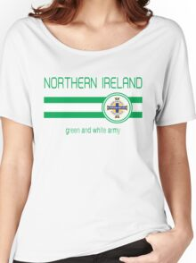 Euro 2016 Football - Northern Ireland (Away Blue) Women's Relaxed Fit T-Shirt