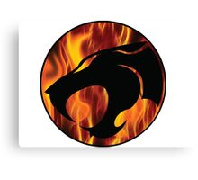 Fire cats Canvas Print