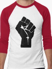 Fist of Resistance - Stencil Print Men's Baseball ¾ T-Shirt