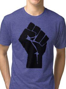 Fist of Resistance - Stencil Print Tri-blend T-Shirt