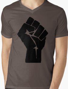 Fist of Resistance - Stencil Print Mens V-Neck T-Shirt