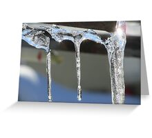 Ice Cicles  Greeting Card