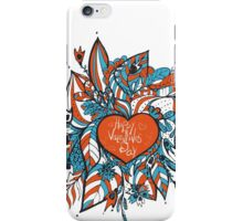 sketchy love and hearts doodles, vector illustration iPhone Case/Skin