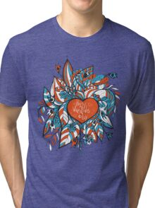 sketchy love and hearts doodles, vector illustration Tri-blend T-Shirt