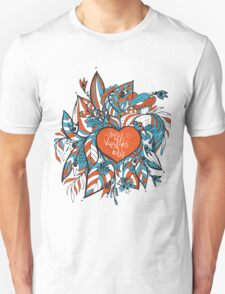 sketchy love and hearts doodles, vector illustration Unisex T-Shirt
