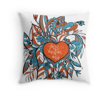 sketchy love and hearts doodles, vector illustration Throw Pillow