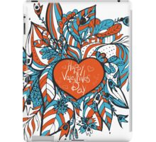 sketchy love and hearts doodles, vector illustration iPad Case/Skin