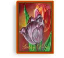 Thinking Of You - Two Tulips Canvas Print