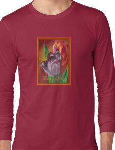 Thinking Of You - Two Tulips Long Sleeve T-Shirt