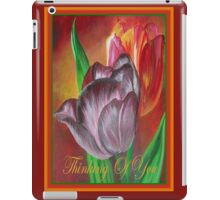 Thinking Of You - Two Tulips iPad Case/Skin