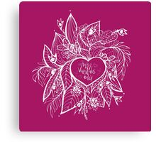 sketchy love and hearts doodles, vector illustration Canvas Print