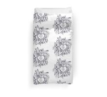 sketchy love and hearts doodles, vector illustration Duvet Cover