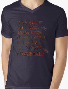 Crisp In The Fall Mens V-Neck T-Shirt