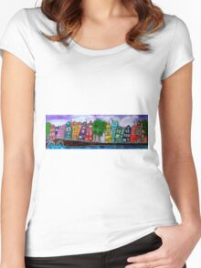 Amsterdam famous canals Women's Fitted Scoop T-Shirt
