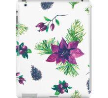 Christmas botanical watercolor pattern iPad Case/Skin