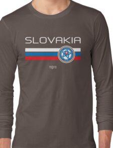Euro 2016 Football - Slovakia (Away Blue) Long Sleeve T-Shirt