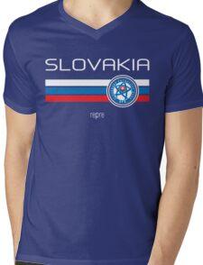 Euro 2016 Football - Slovakia (Away Blue) Mens V-Neck T-Shirt