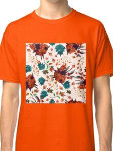 Christmas botanical watercolor pattern Classic T-Shirt