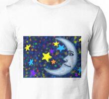 Happy Moon and Stars Unisex T-Shirt