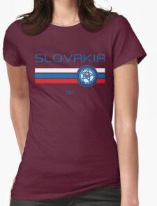 Euro 2016 Football - Slovakia (Home White) Womens Fitted T-Shirt