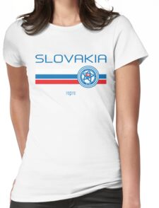 Euro 2016 Football - Slovakia (Home White) Womens Fitted T-Shirt