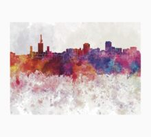 Lagos skyline in watercolor background Kids Clothes