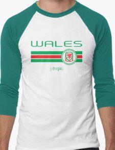 Euro 2016 Football - Wales (Home Red) Men's Baseball ¾ T-Shirt