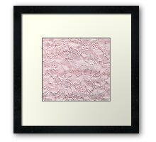 Pink Old Cloth Framed Print